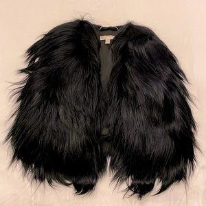 Michael Kors Black Genuine Fur Vest